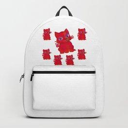 My Red Vanda Cat Pet Pattern Backpack