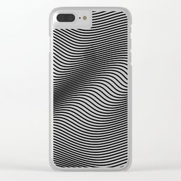 Bold Minimal Lines Clear iPhone Case