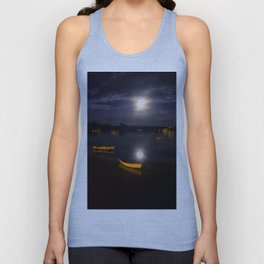 Full moon on Biscay Bay Unisex Tank Top