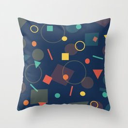 Triangles,Circles,Squire, Throw Pillow