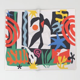 inspired to Matisse (black) Throw Blanket