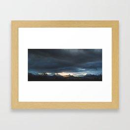 Sunrise over Kachemak Bay, Alaska Framed Art Print