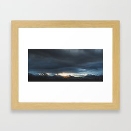 Sunrise over Kachemak Bay, Alaska Framed Art Print