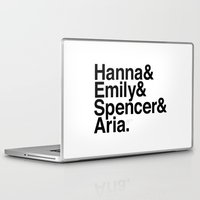 pretty little liars Laptop & iPad Skins featuring Pretty Little Liars by MLauxDesign