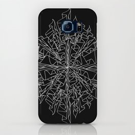 starburst line art - black iPhone Case