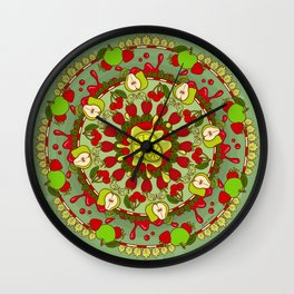 Red Fruit, Green Fruit Wall Clock
