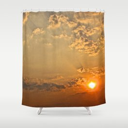 Sunset in the Clouds - The Peace Collection Shower Curtain
