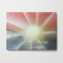 Lake Lights Metal Print