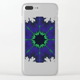 Fractal Compass Rose Clear iPhone Case