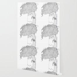 Bougainvillea Tree - Line Art Wallpaper