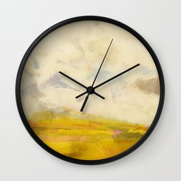 the sky over the fields abstract landscape Wall Clock