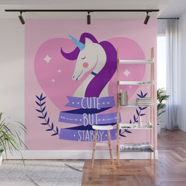 Cute But Stabby, Funny, Quote Wall Mural