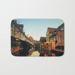 Autumn evening in Colmar Bath Mat