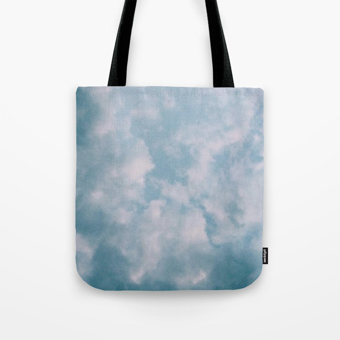 Fluffy Blue Clouds Tote Bag