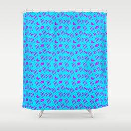 Werewolf Weather in Panic Shower Curtain