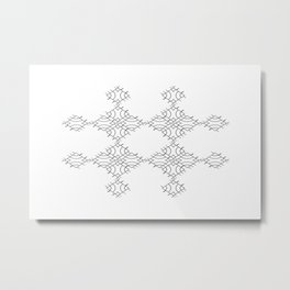 electronic shapes Metal Print