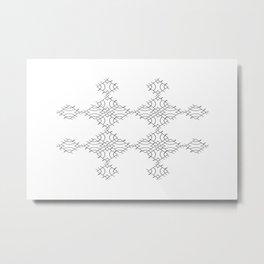 electronic shapes Metal Print