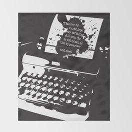 Ernest Hemingway Quote Throw Blanket