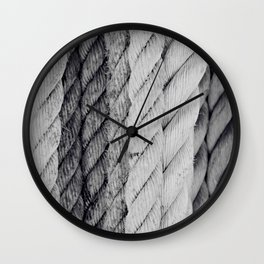 Ropes Black and White Nautical Wall Clock