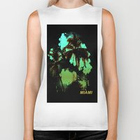 miami Biker Tanks featuring MIAMI by rauldesigns