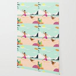 Kaniela and Doggo Owen's beach day Wallpaper