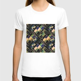Creative patchwork. T-shirt