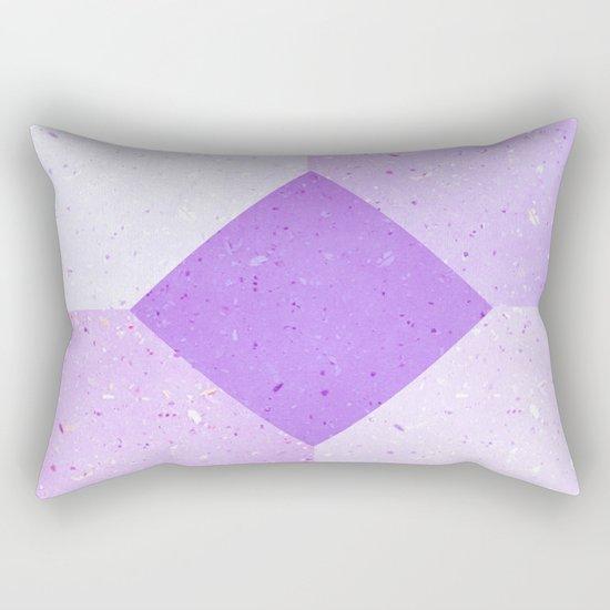 GEOMETRIC RETRO THROWBACK PURPLE PULP Rectangular Pillow