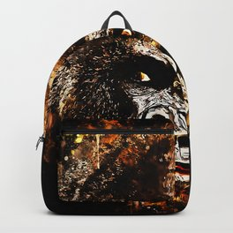gorilla monkey face expression ws Backpack