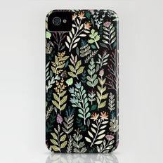 Dark Botanic Slim Case iPhone (4, 4s)