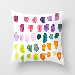 Watercolor Study Throw Pillow