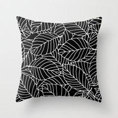 Sweet leafs: Black Throw Pillow