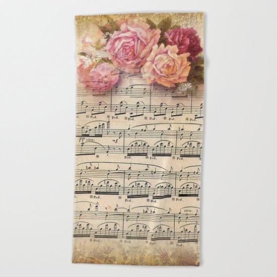 Vintage Music #2 Beach Towel