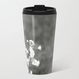 Black and white florals Travel Mug