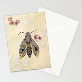 Greater death's head hawkmoth and peanut butter tree Stationery Cards