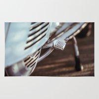 motorbike Area & Throw Rugs featuring Vintage Motorbike Kickstarter by visualspectrum
