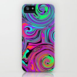 Trippy Psychedelic Swirls iPhone Case