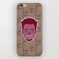 tyler durden iPhone & iPod Skins featuring Tyler Durden - FightClub by Kuki