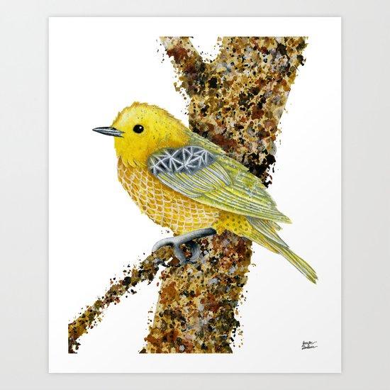 Yellow Warbler Tilly Art Print