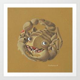 Scorpio (ocher) Art Print
