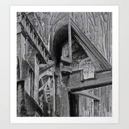 English Gothic (Halftone) Art Print