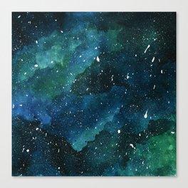 Emerald Galaxy Canvas Print