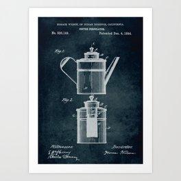 1894 - Coffee percolator patent art Art Print
