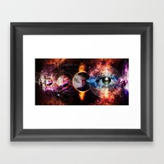 Quantum space Framed Art Print