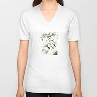 submarine V-neck T-shirts featuring submarine by Mariana Beldi