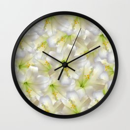 Cotton Seed Lilies Wall Clock