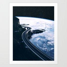 Road on Earth Art Print
