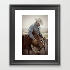 Cowboy Affection Framed Art Print