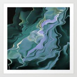 Teal Turbulence Art Print