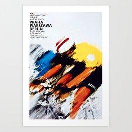 The Peace Race 1966 Art Print