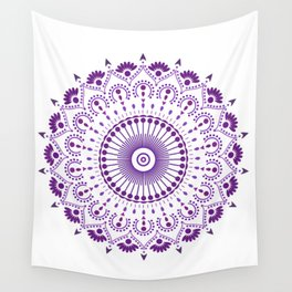 Ultraviolet mandala Wall Tapestry